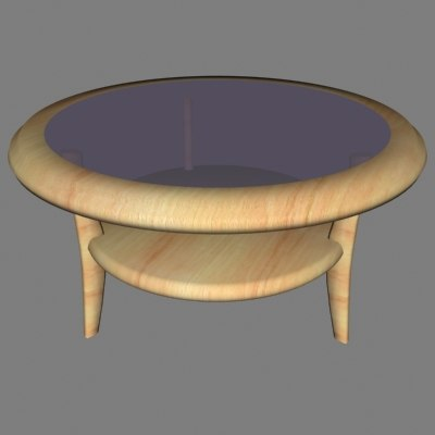 3dsmax wood coffee table