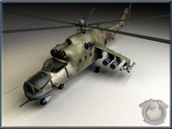 russian mi-24 hind 3d model