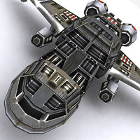 3d fighter space ship model