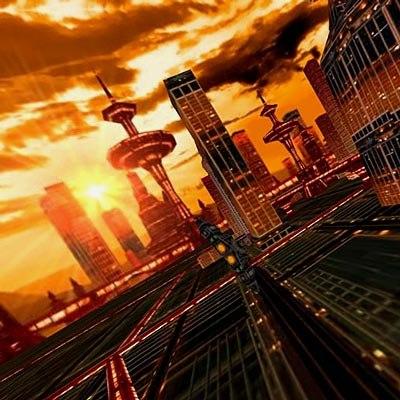 virtual city 3d model