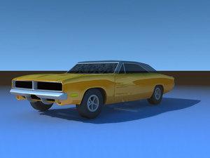 3d 1968 dodge charger model