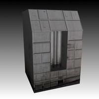 block spaceship 3d model
