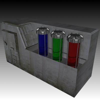 3dsmax block spaceship