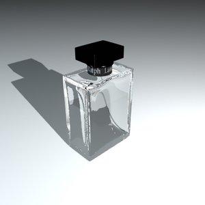 cologne bottle ralph lauren 3d model