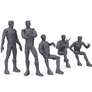 3d male man person model