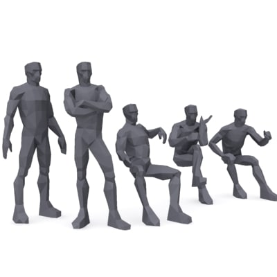 3d male man person model