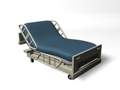 3d patient bed hospital