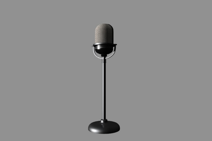old style microphone 3d model
