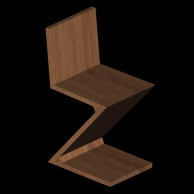 maya rietveld zig chair