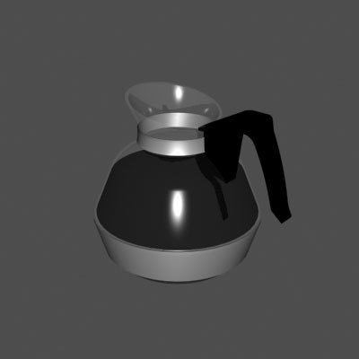 3d coffee pot decanter