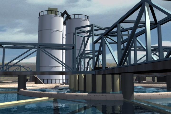 3d model water treatment plant