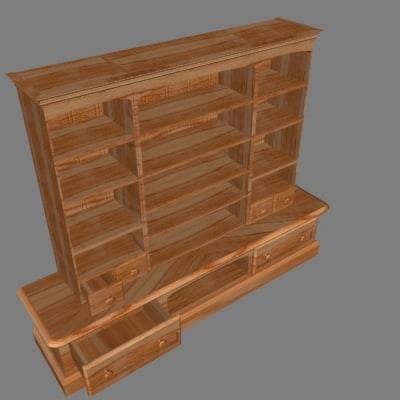 3d red cabinet