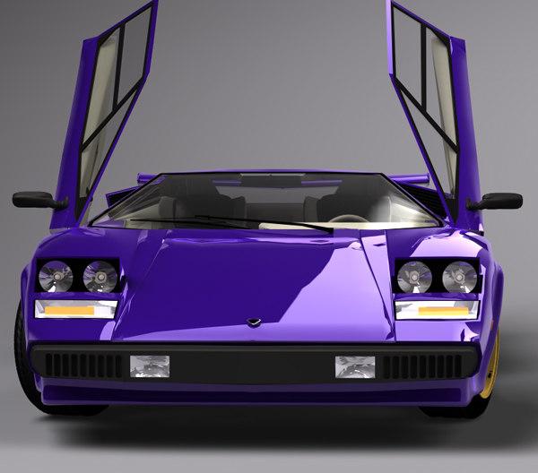 Lamborghini Countach Walter Wolf 3d C4d