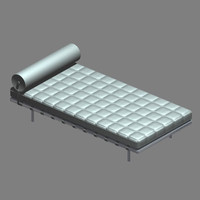 mies day bed 3d model