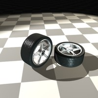 star rims tire 3d model