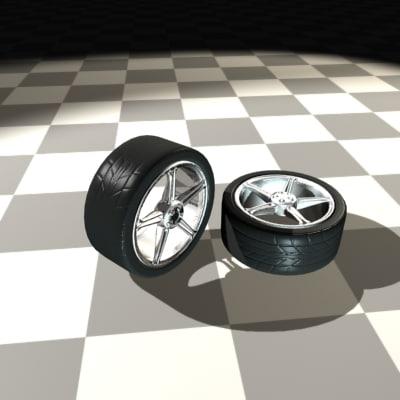 star rims tire 3d model