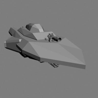 3d armed boat model