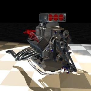 3d model hemi engine