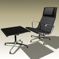 3d charles eames lounge chair model