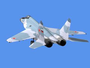 mig jet fighter 3d model