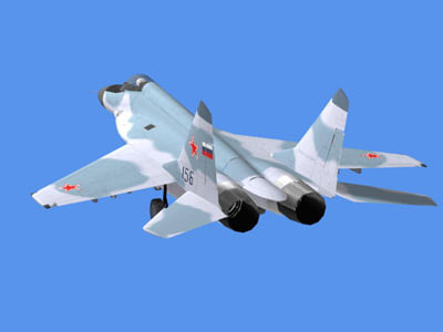 mig jet fighter 3d model