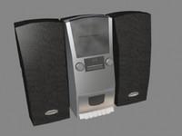 free box cd player 3d model