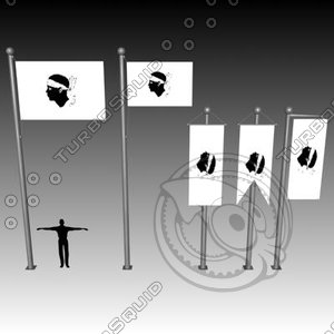 3ds max flag banner
