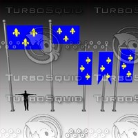 3d model flag banner