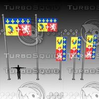 flag banner 3d max