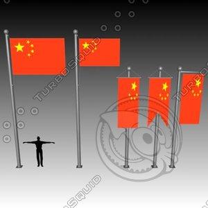3d model banner flag