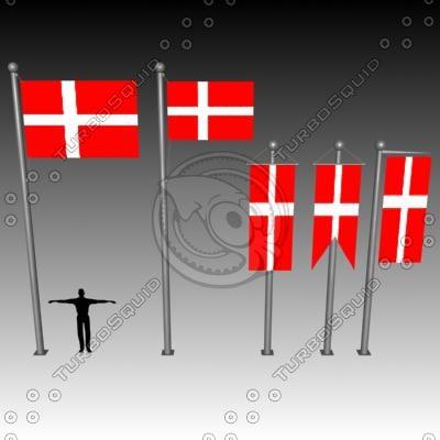 banner flag 3d model