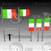 3d banner flag