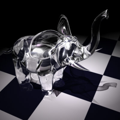 3d model glass elephant