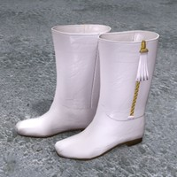 3d model of boots zipped