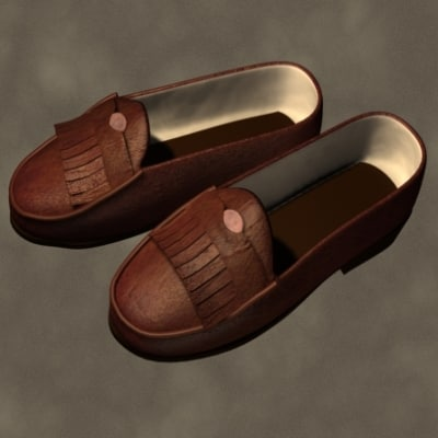 penny loafers zipped 3d model