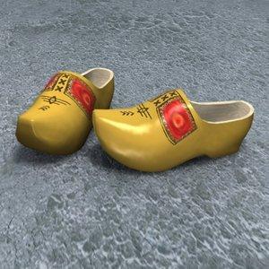 3d wooden shoes zipped