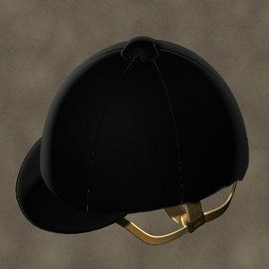 3d model of english hat zipped
