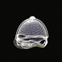 3d model of english hat zipped