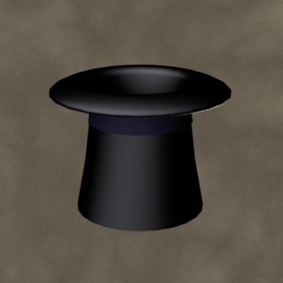 3d hat zipped model