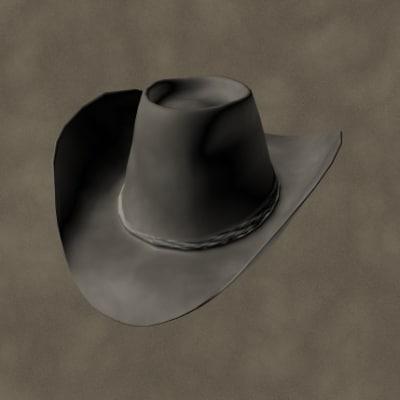 old cowboy hat 3ds