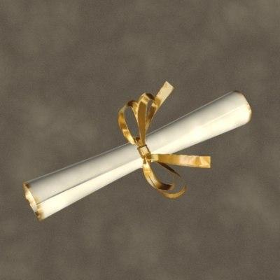 3d model diploma zipped