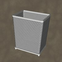 3d model waste basket zipped