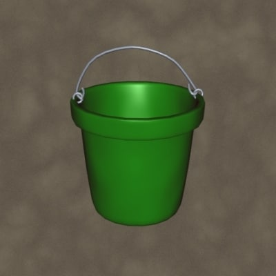 3d feed bucket zipped model