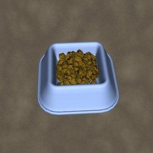 3d dog food dish zipped model