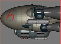 3d model battle blimp
