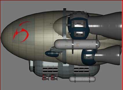 3d model battle blimp