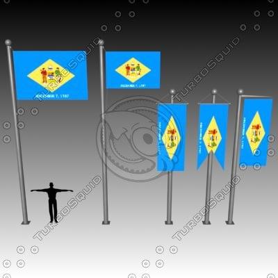 flag u 3d max