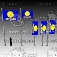 3d model of flag u