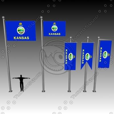 3d flag u