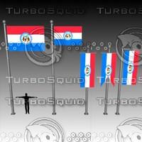 3d model flag u